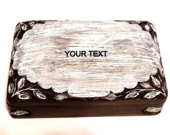 Anniversary Wedding Box, Personalized Bracelet Box, Custom Necklace Box, Bracelet Jewelry Box, Engravable Necklace Box, Unique Gift Box