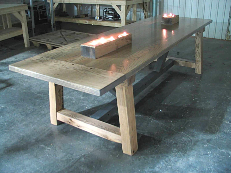 solid oak beam table sale custom wood handcrafted rustic farmhouse dining table farm table on sale - Farmhouse Table For Sale
