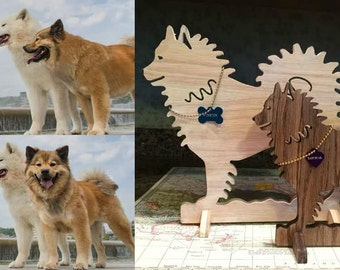 Wooden dog statues