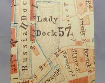 London Hand-sewn Map Journal