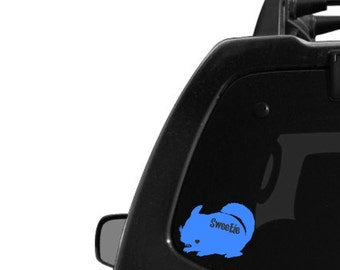 Chinchilla Decal with Name Cut-Out- Custom Car Decal- Chin Decal