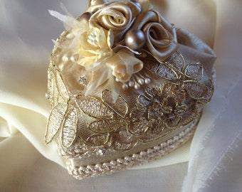 Heart shaped Wedding ring box.