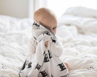 Baby Blanket, BATMAN, lovey blanket, Double Minky, Snuggle Blanket, Security Blanket, baby shower gift