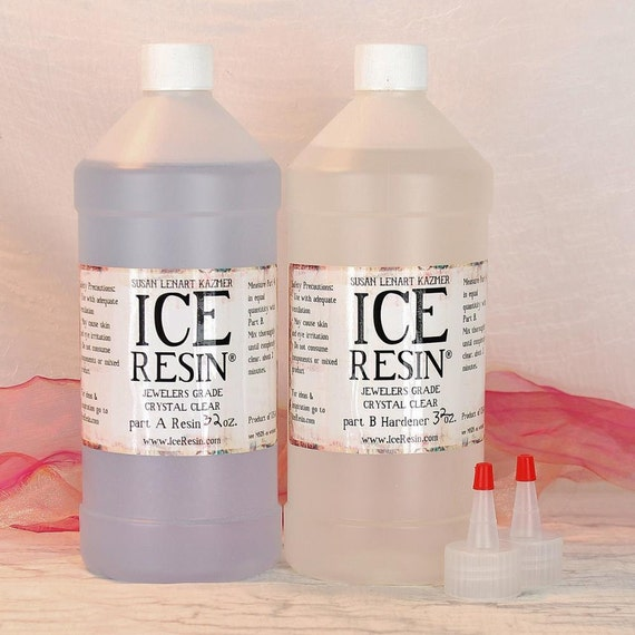 ice resin 64 oz jeweler grade self doming clear epoxy refill