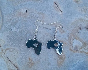 Africa earrings, I heart Africa