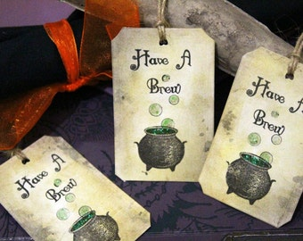 Have A Brew Halloween Tags - Set of 10