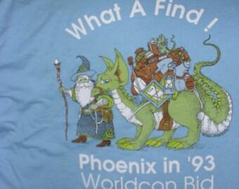 Science Fiction Convention T-Shirt, Phoenix 1993 WorldCon Bid