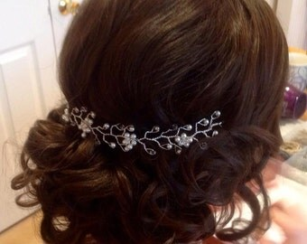 Pretty Delicate Bridal Hair Vine - Hair Up - Boho Wedding - 'Bree'