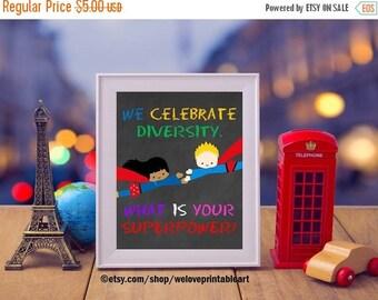 60% OFF SALE Teacher Classroom Decor, Classroom Decoration, Diversity Theme, Teaching Posters, Teacher Gifts, Inspirational Quote Poster, Su