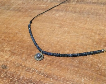 Diamonds and Sapphire Necklace