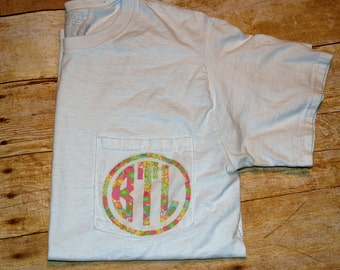Lily Print Monogrammed T-shirt