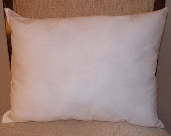 "Travel Size Pillow Form / Insert for Travel Size Pillow Case / 12"" by 16"""