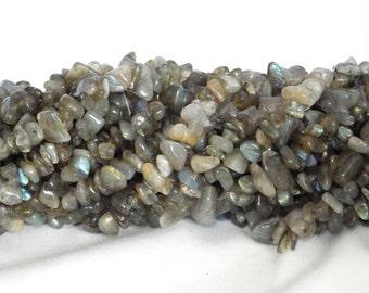 "Labradorite Chip Beads 5x8mm - 35"" String"