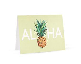 Aloha Pineapple Card