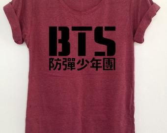 BTS Kpop tshirts boy band Korea Bangtan boys clothing