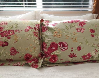 Floral Pillow Sham Etsy