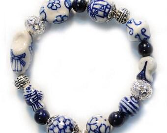 Dutch delftware bracelet