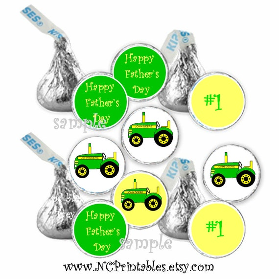 Personalized John Deere  boy/father's day favors gift  candy stickers (108)