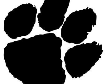 Tiger Paw Lion Paw Bobcat Paw SVG Cut File