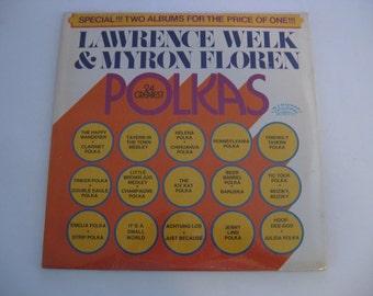 Factory Sealed! - Lawrence Welk & Myron Floren - 24 Greatest Polkas - 1972