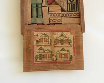 Vintage Toy Architectural Blocks