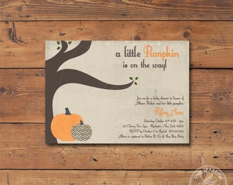 Pumpkin/Fall Printable Baby Shower Invite