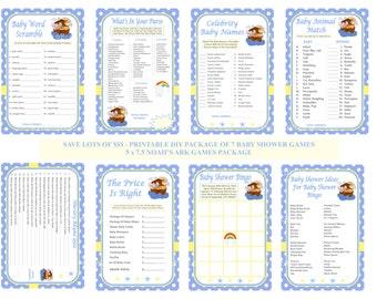 Noah's Ark Baby Shower Game, Printable Noah Baby Game, Noah Games, Noah Baby Games, Noah Shower, Two By Two Baby Shower - Printables 4 Less