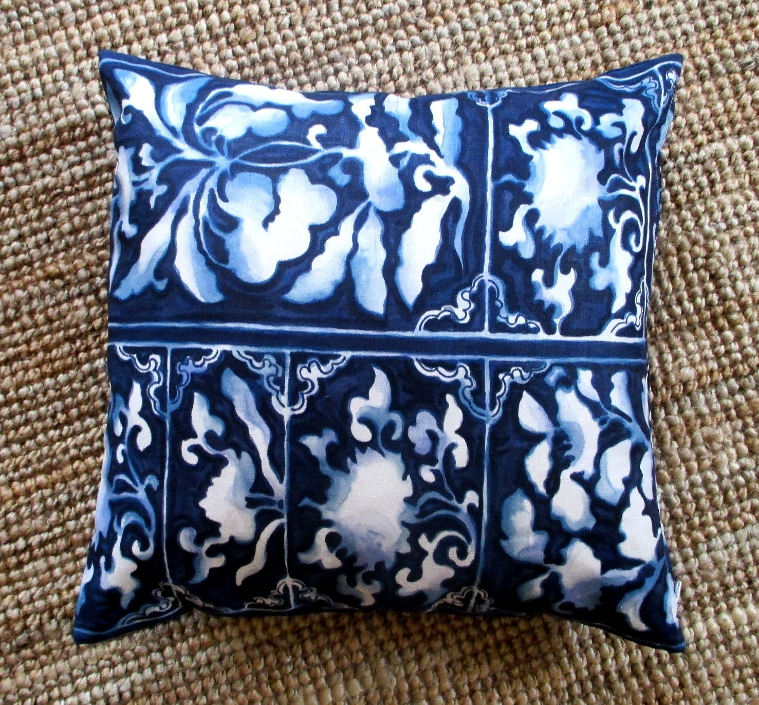 Decorative pillow cover Ralph Lauren print 100% linen