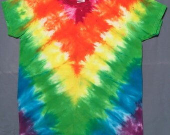 Women's Medium Rainbow Tie-Die Shirt - Other Sizes Available
