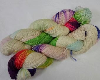 Mint Flash Handdyed Sock Yarn