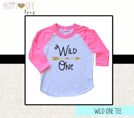 Wild One T Shirt Birthday Shirt First Birthday Kids Tee