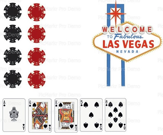 Casino Las Vegas Birthday Party - Edible Cake and Cupcake Topper For Birthday's and Parties! - D20526