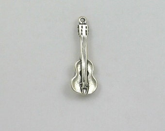 Sterling Silver 3-D Acoustic Guitar Charm