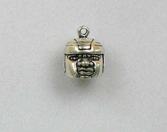 Popular items for necklace wood beads on Etsy |Olmec Head Necklace