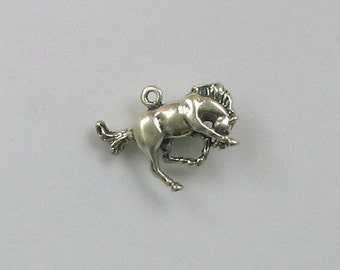 Sterling Silver 3-D Bucking Bronco Horse Charm