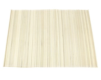 "Ivory / Cream Bamboo Place Mat 13"" x 19"" set of 4 Home & Kitchen, Home Decor, elegant looking, place setting, modern look,  (BAP01-02)"