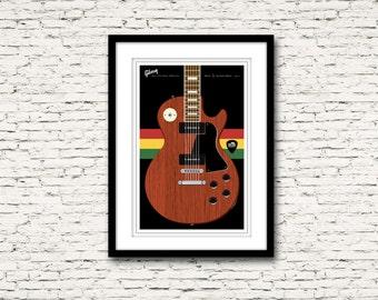 Guitars Signature Series Poster 2 Gibson Les Paul Bob Marley
