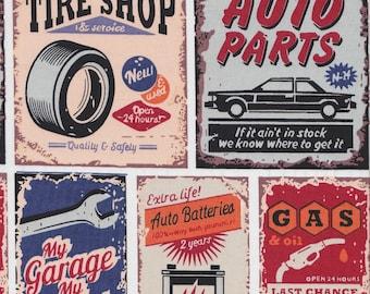 Auto Parts - Red - Stenzo Poplin
