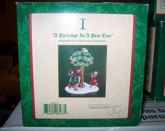 Vintage Department 56, A Partridge In a Pear Tree, No. 1, NIB, Heritage Village Collection