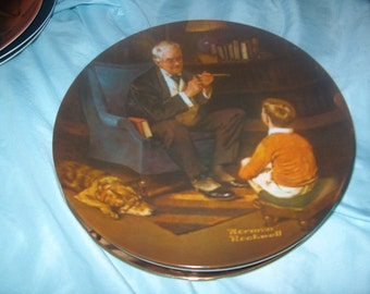 Vintage Norman Rockwell Plate, The Tycoon, 6th Heritage Collection, Knowles, WAS 10.00 - 20% = 8.00