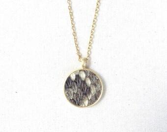 Snakeskin Pendant Necklace