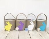 Burlap  easter basket Personalized Easter Bunny Girls Easter Basket Personalized Easter Baskets personalized basket