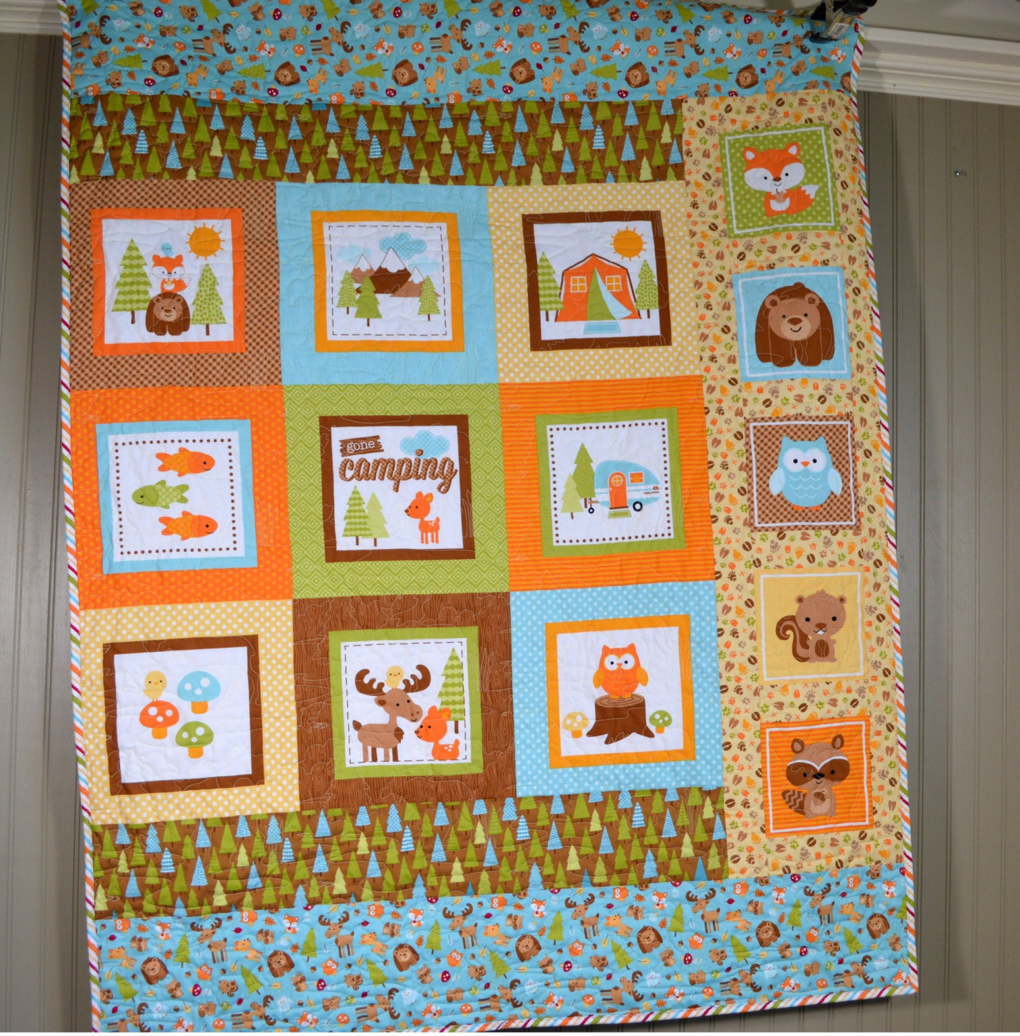 Baby Gift Quilt : Quilt baby bedding shower gift nursery