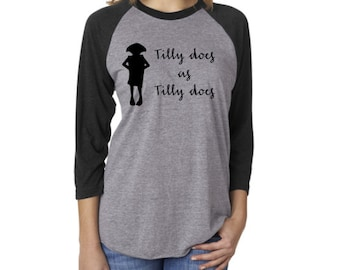 Tilly does as Tilly does 3/4 sleeve shirt