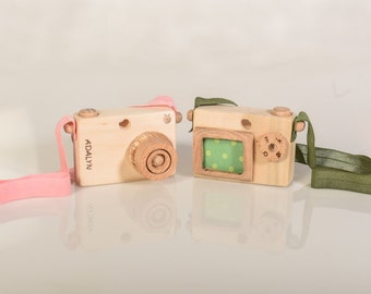 Personalized Wooden Toy Camera - Handmade Play Camera - Wooden Toys