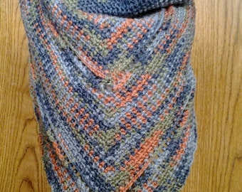 Picasso Marble Cowl Shawl - Neck Warmer / Infinity Scarf