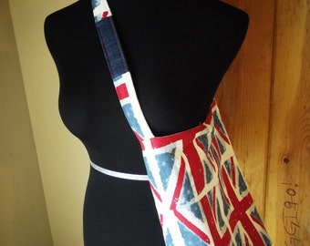 British Themed fully lined Tote Bag