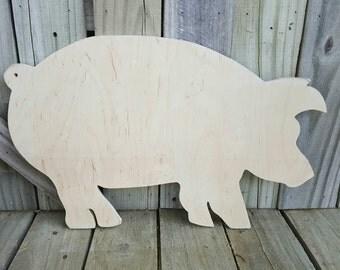 Wooden Pig, Wooden Pig Sign,Wall decor, pig sign,