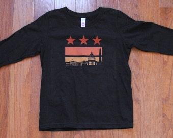 Size 8 - Sunset Flag Long Sleeve Tee