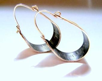 SALE! only 90 (was110)  sterlling silver earrings, hoop earrings, African earrings ,ethnic earrings, 925 silver earrings, hoop earrings